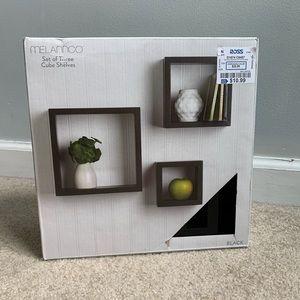 Black Cube Shelves